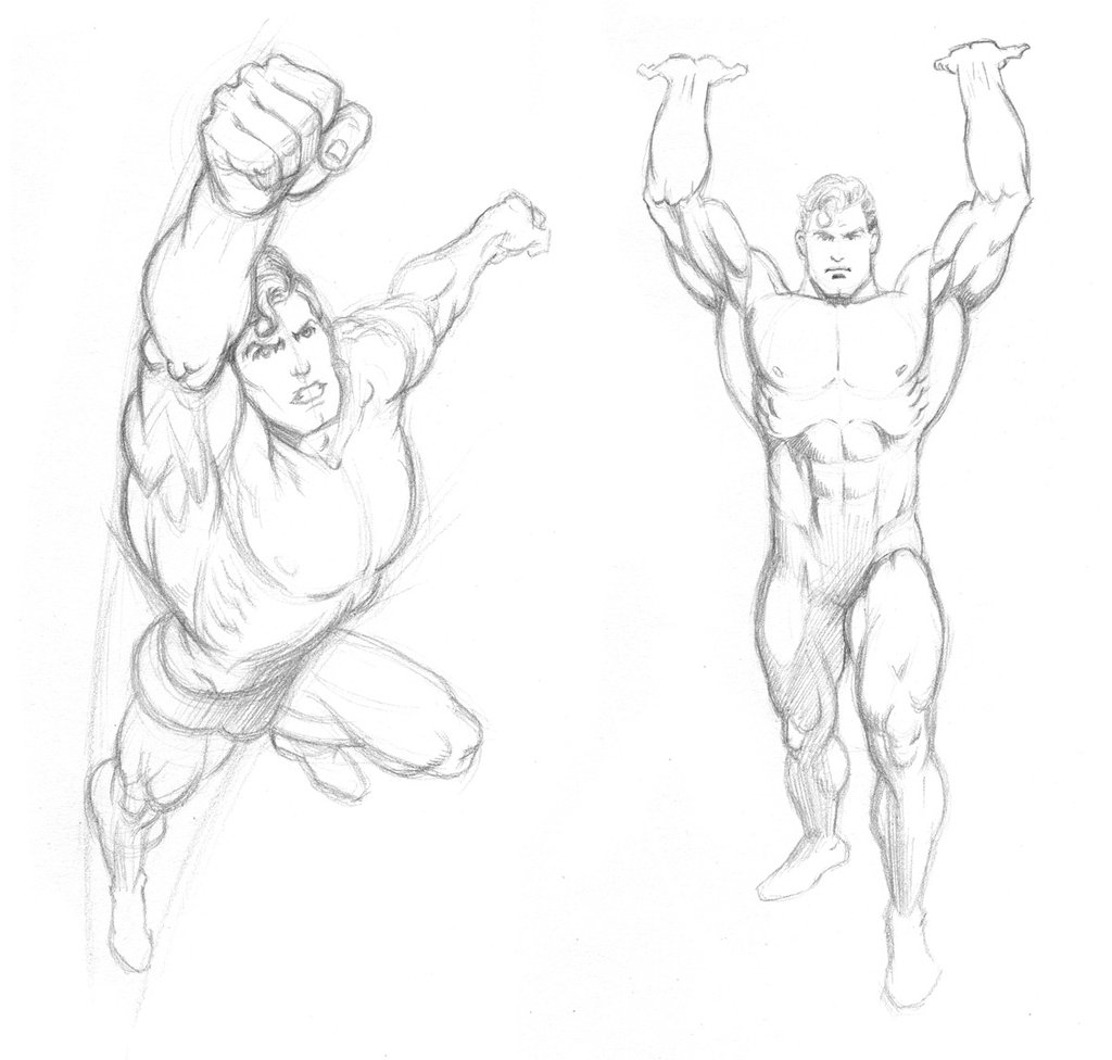Drawn superman foreshortened  Almayer Lopez Almayer Garcia