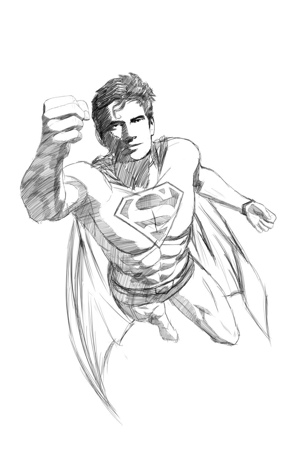 Drawn superman foreshortened Superman Flying by Sketch Sketch