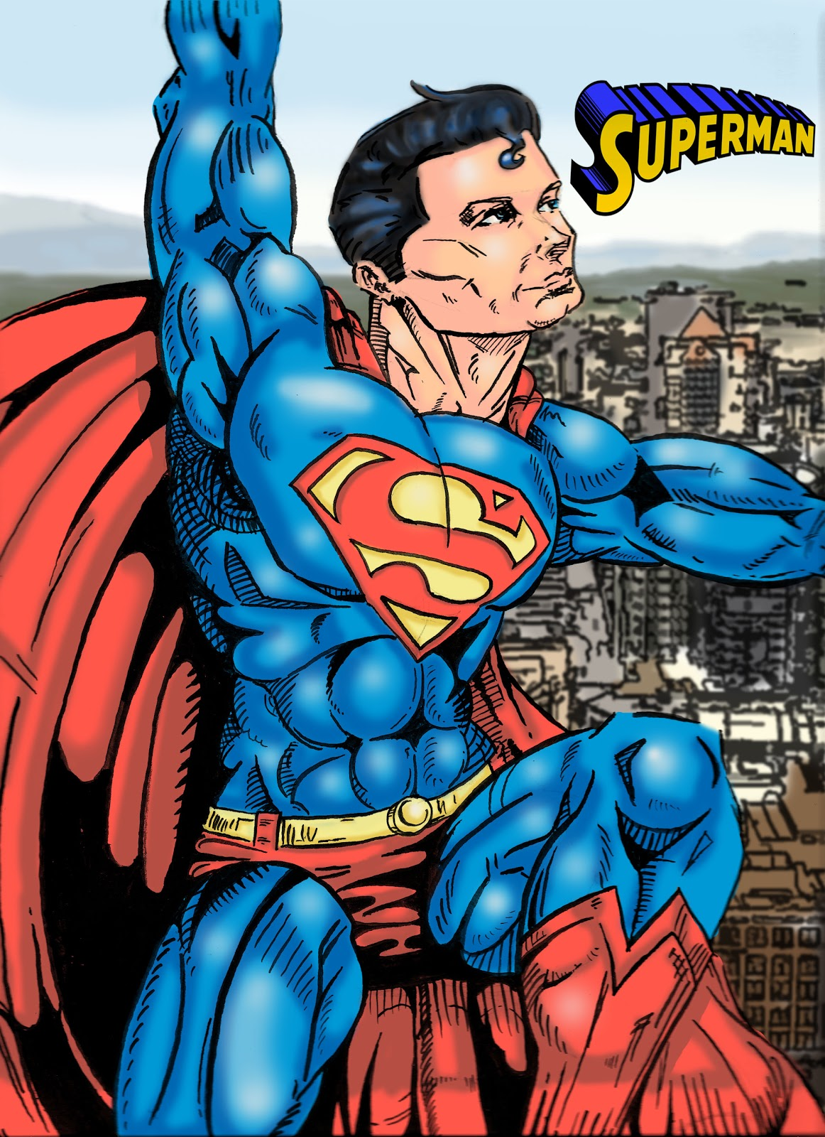 Drawn superman foreshortened  Your Comics to Superman