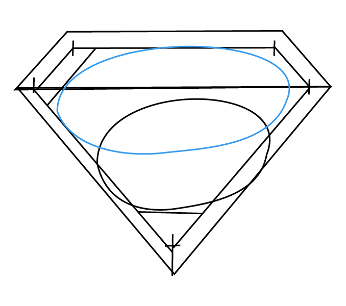 Drawn superman save me Logo Step Guides by Step:
