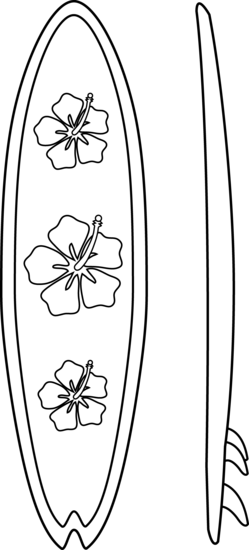Surfboard clipart outline #1