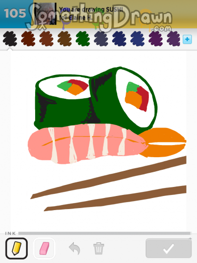 Drawn sushi Draw on SUSHI drawn Sushi