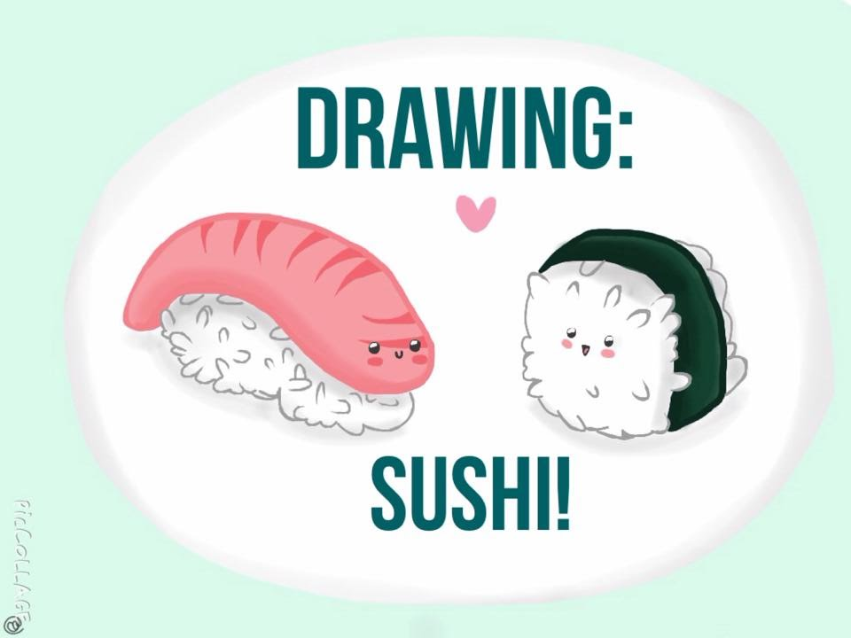 Drawn sushi chibi Sushi! Drawing: Drawing: YouTube Sushi!