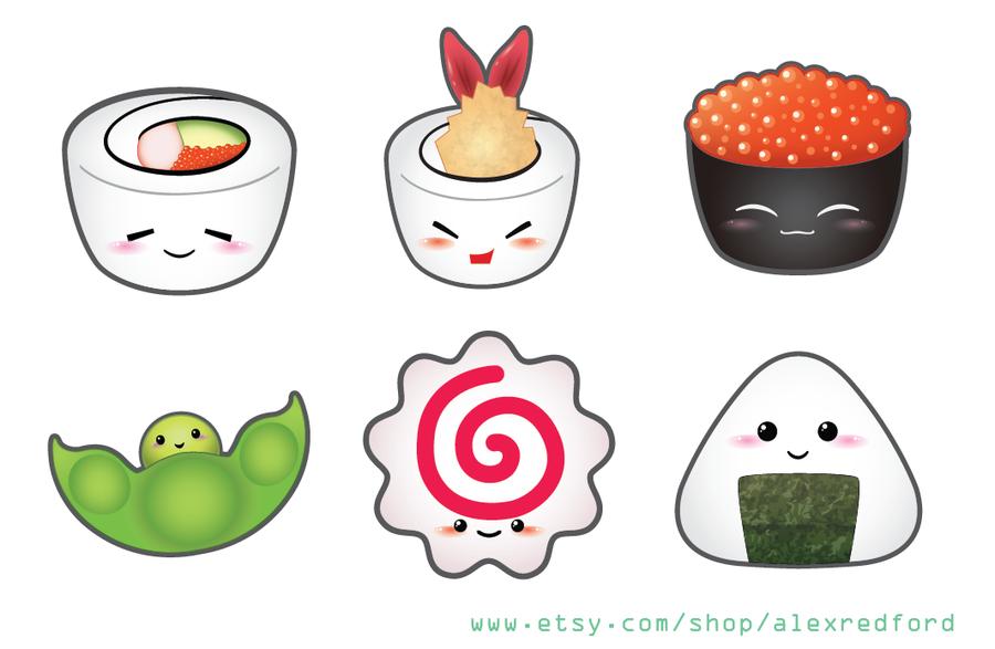 Drawn sushi chibi Tillagd av Naye Japanese Cute