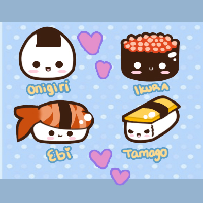 Drawn sushi chibi Cute Sushi And Lessons Sushi