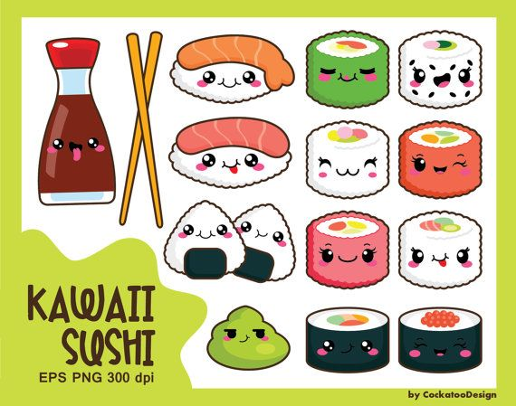 Sushi clipart china food Stickers sushi Food clipart ideas