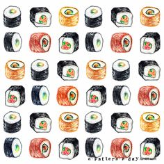 Drawn sushi Cartoon Pinterest Sushi cartoon Sushi