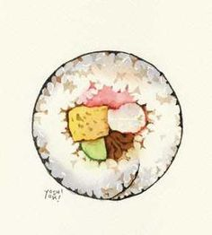 Drawn sushi To want  turvey illustrator: