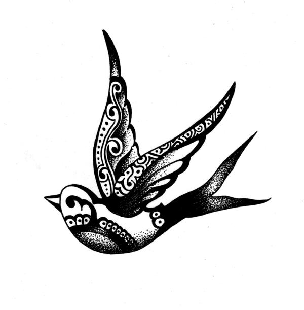 Drawn swallow #8