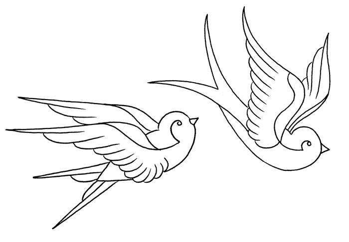 Drawn swallow Traditional tattoo) tattoo) Swallow (sketch