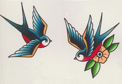 Drawn swallow #5