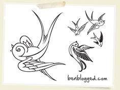 Drawn swallow Tattoos Tattoo set Case: Tattoo