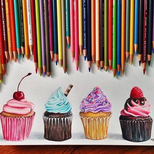 Drawn sweets colorful cupcake Butterflies It on about See
