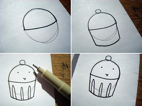 Drawn sweets easy Circles draw Illustrated to Use
