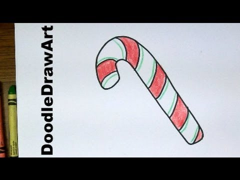 Drawn candy candy cane #1