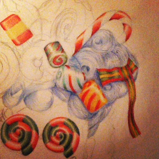Drawn sweets pencil drawing #candy on #drawing #art pencil