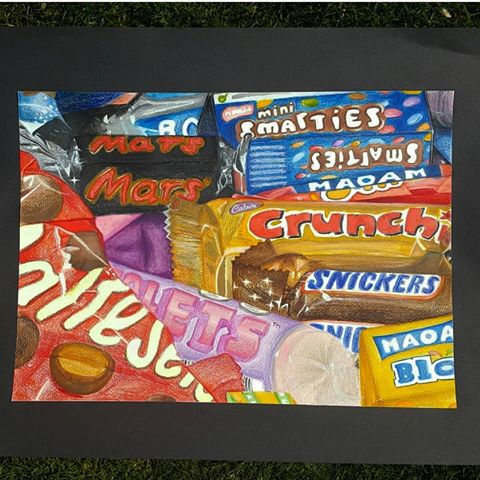 Drawn sweets pencil drawing I Jess that while