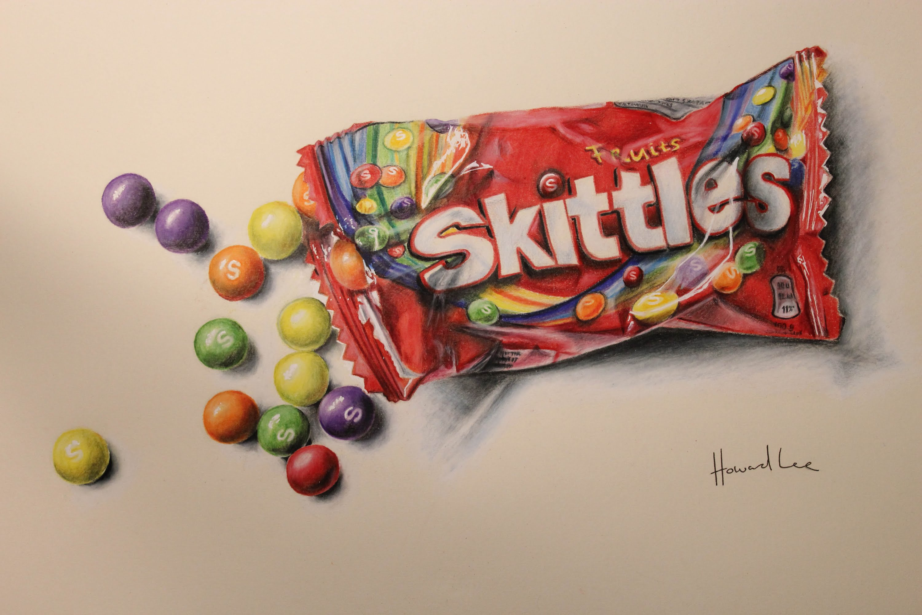 Drawn sweets realistic Time Drawing Lapse: Skittles Time