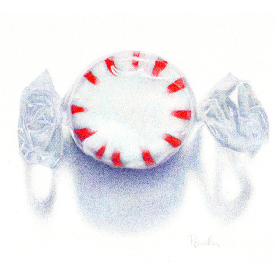 Drawn sweets realistic Colored a Pencil Christmas /