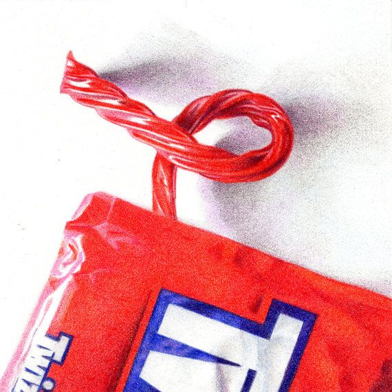 Drawn sweets realistic Colored a pencil Realistic images