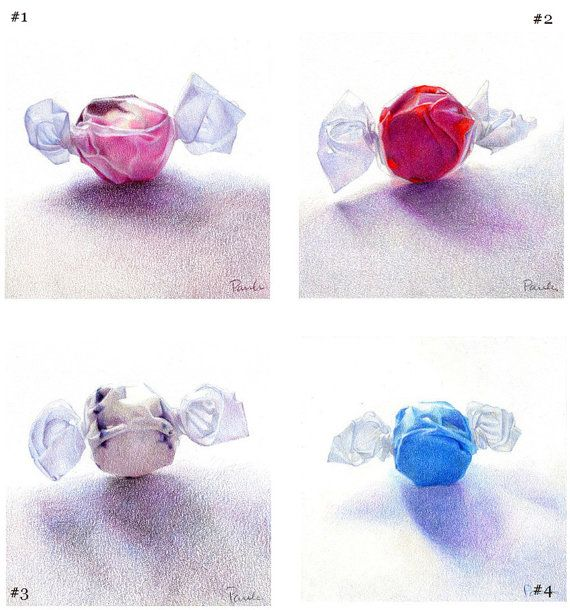 Drawn sweets realistic Pencil Colored Drawings Candy best