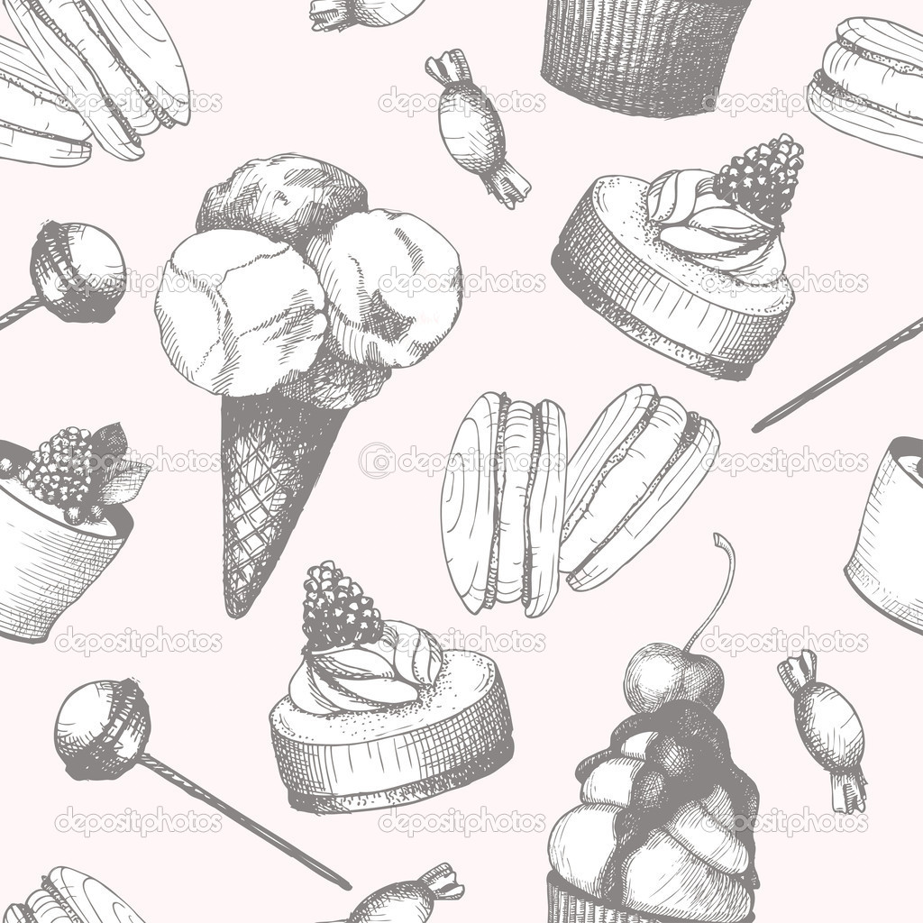 Drawn sweets vintage cake Search Search Google drawing detailed