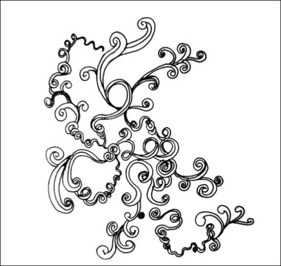 Drawn swirl artistic Brush swirl Sets brush –
