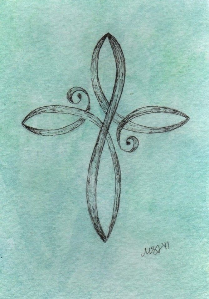 Drawn swirl On images Cool Cross 115