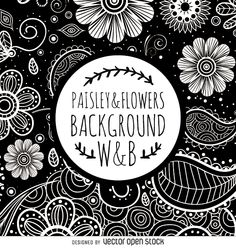 Drawn swirl paisley Project vibe spring background to