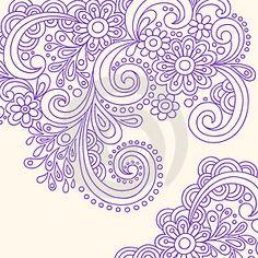 Drawn swirl paisley Paisley Henna Hand Vector Paisley