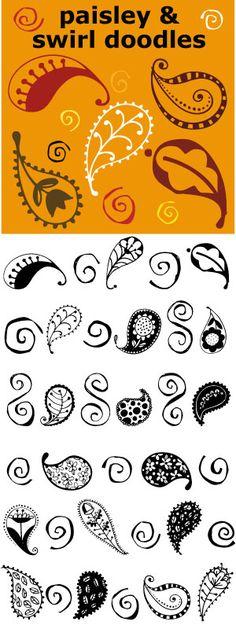 Drawn swirl paisley To Paisley DrawingPaisley and Outline
