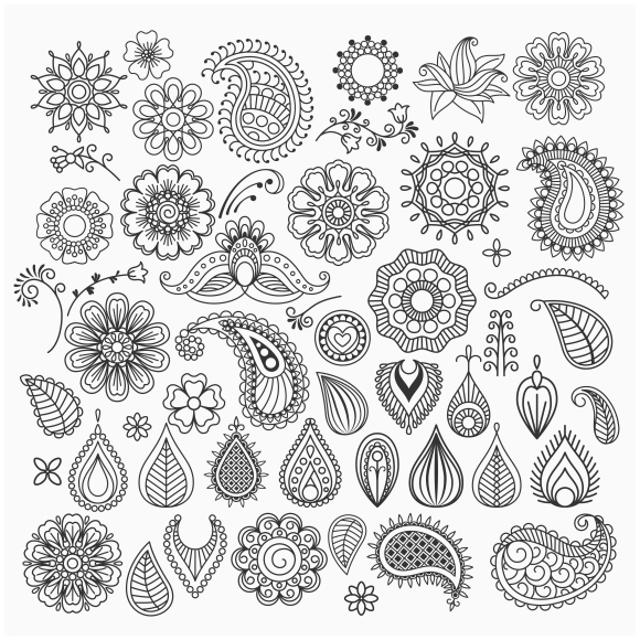 Drawn swirl paisley Digital Your Get swirls Hand