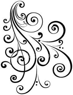 Drawn swirl paper Free holes Art Designs Stock