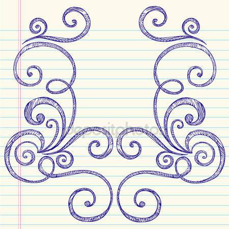 Drawn swirl paper Drawn Notebook Swirl Draw Notebook