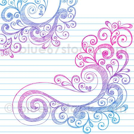 Drawn swirl paper Vector tattoos blue67stock Abstract Illustration