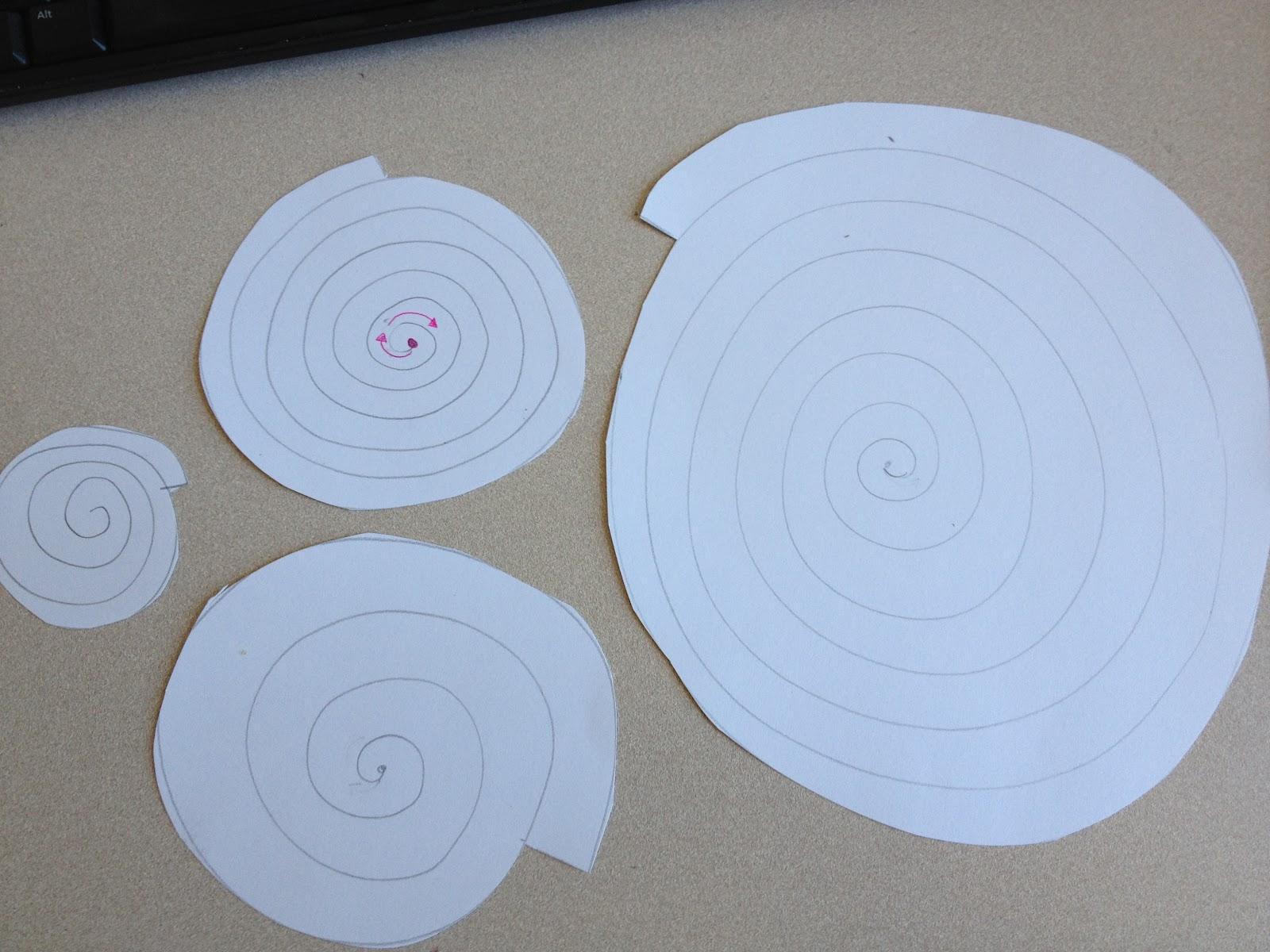 Drawn swirl paper Almost pictured Glue Guns: sheet