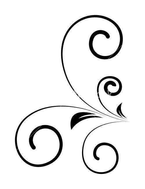 Drawn swirl silhouette Image Stock Old Swirl Swirl