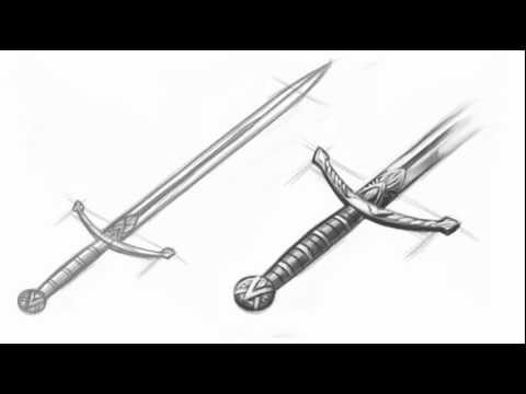 Drawn sword Sword Draw a  to
