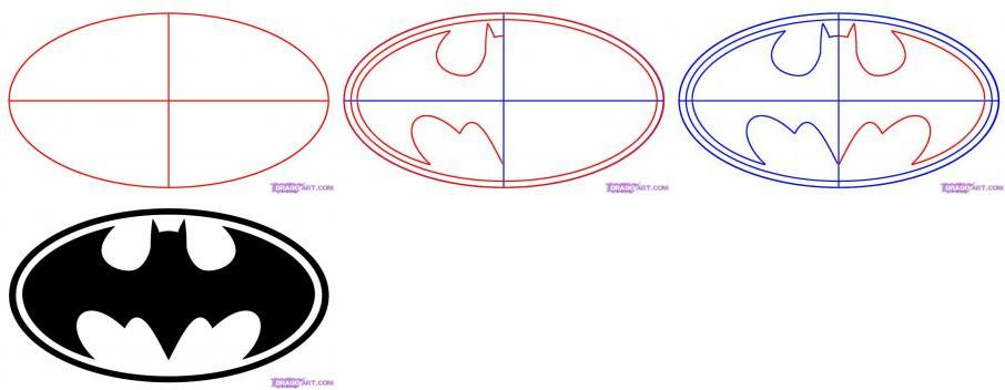 Drawn symbol batman Batman the How Batman Draw
