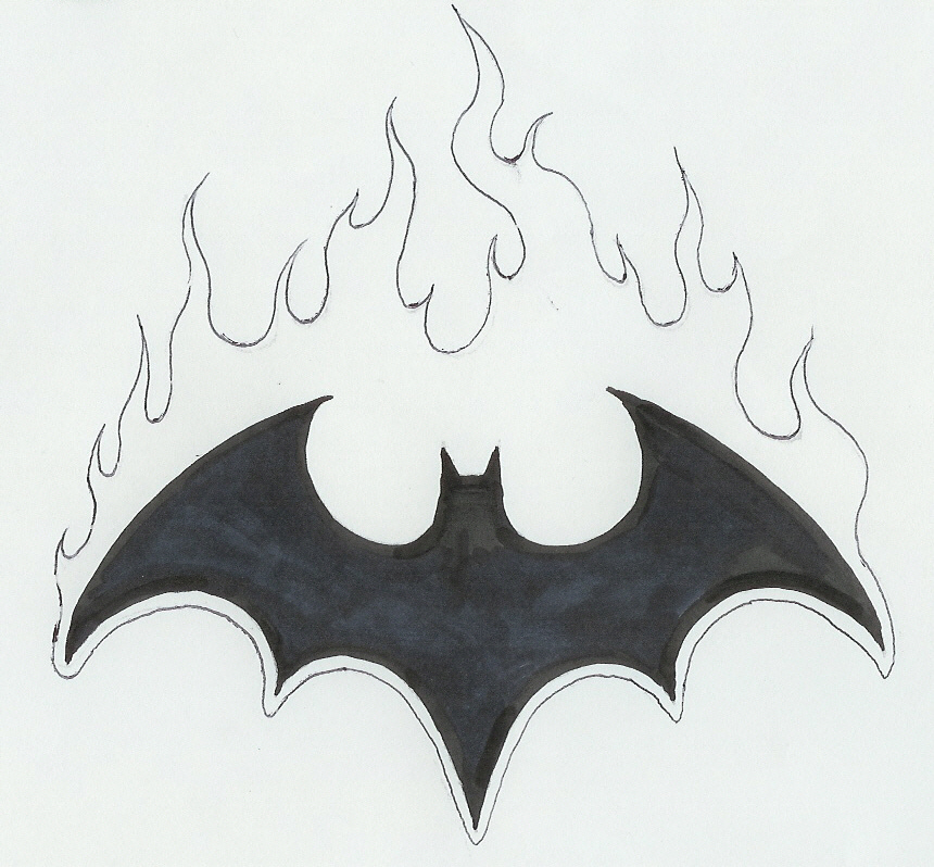 Drawn symbol batman Symbol  Drawing Batman