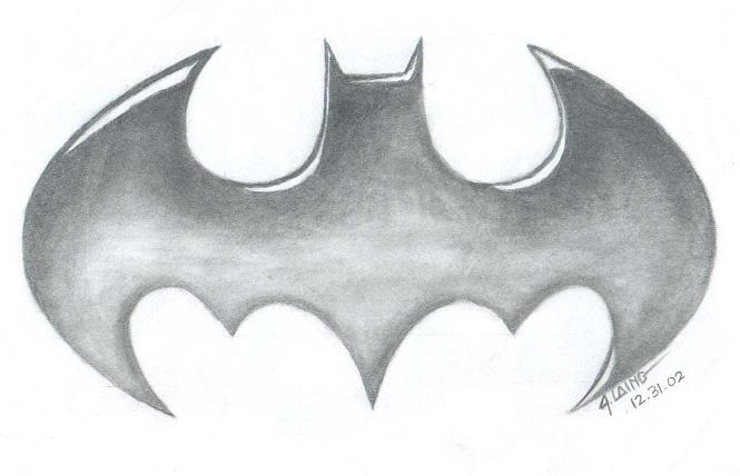Drawn symbol batman Drawing Easy Easy clipartsgram com
