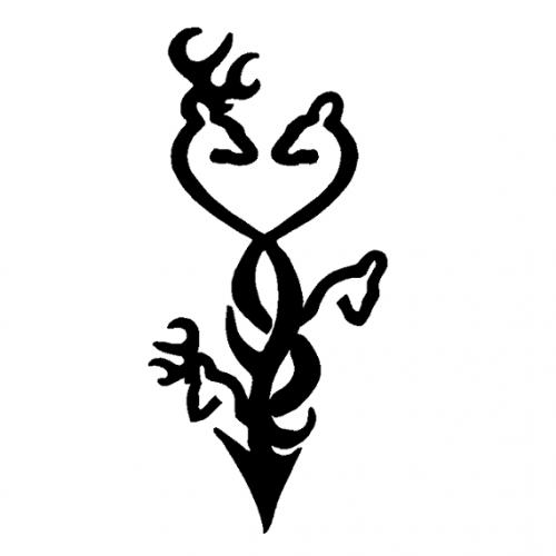 Drawn symbol browning Not tattoo and Tattoo