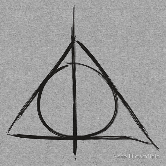 Drawn symbol deathly hallows Hallows symbol