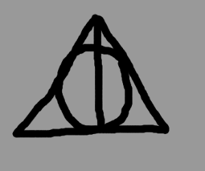 Drawn symbol deathly hallows Draw Deathly symbol! Hallows