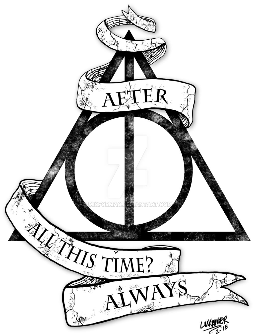 Drawn symbol deathly hallows Harry Drawing Symbols  Potter