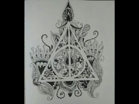 Drawn symbol deathly hallows From Speed Hallows YouTube Harry