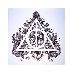 Drawn symbol deathly hallows The Deathly and  Harry