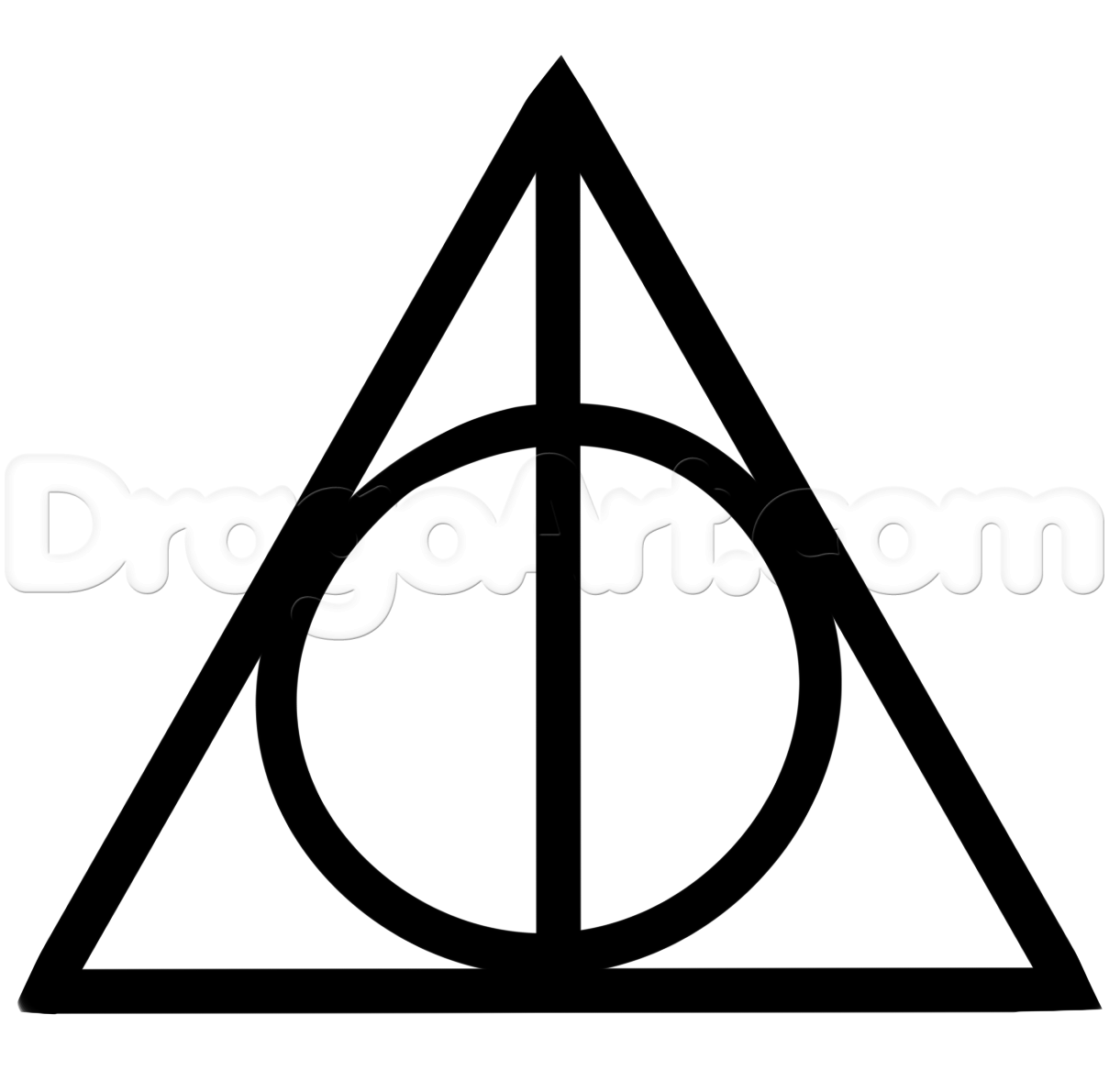 Drawn symbol deathly hallows Deathly Hallows to Movies the