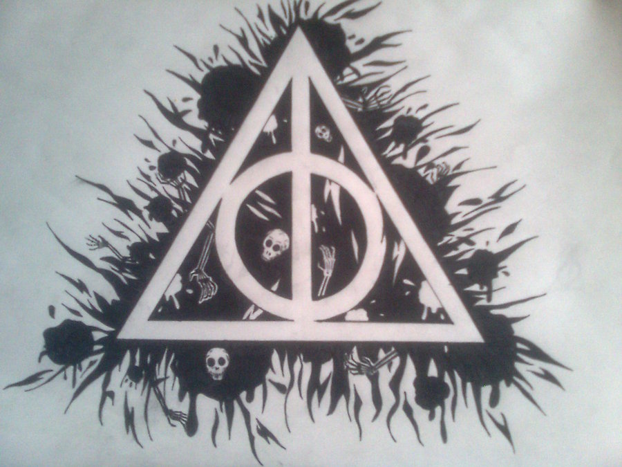 Drawn symbol deathly hallows Hallows Deathly Art Hallows Drawing
