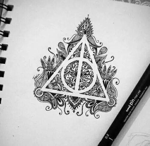 Drawn symbol deathly hallows As well hallows the do